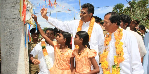 To commemorate and celebrate His Excellency the President's Birthday Batticaloa receives many electric projects