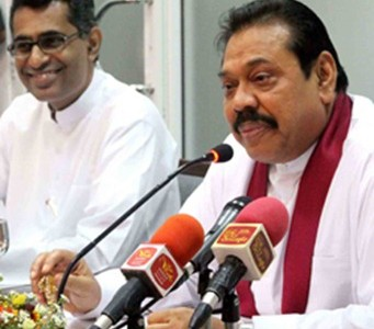 President Mahinda Rajapakse paid an official visit to the Ministry of Power and Energy today.