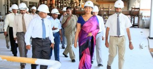 Minister Pavithra Wanniarachchi on inspection tour of Norochcholai
