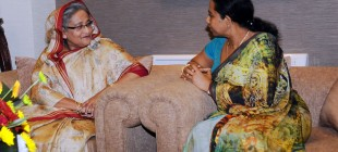 Bangladesh Prime Minister Sheikh Hasina meets Minister of Power and Energy Attorney Pavithra Wanniarachchi.