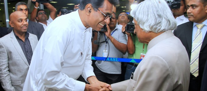 "Dr. Abdul Kalam arrived Sri Lanka for the conference, ""An energy approach towards a Knowledge based economy"""