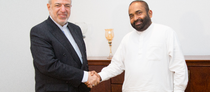 Official meeting between Energy ministers of Iran and Sri Lanka