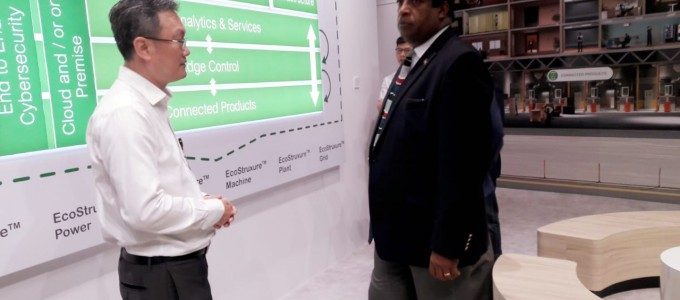 Minister of Power attended in a special session on energy management during his visit to Singapore