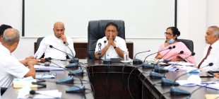 The seven member committee and the electrical engineers appointed to inquire the power failure are before the Minister…..