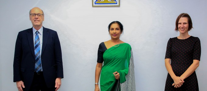 Mr. Reed Aeschliman, Mission Director of the USAID met Secretary Ms. Wasantha Perera today (14.10.2029) and had a preliminary discussion on designing the power sector assistance program with USAID grant funds
