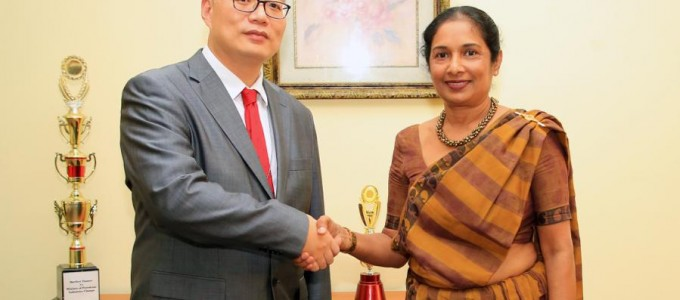 Secretary to the Ministry of Power and Energy met with Mr Chen CHEN New Country Director of Asian Development Bank